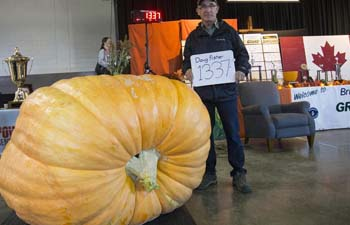 Giant Pumpkin Competition draws crowds in Canada