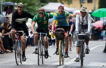 """Eroica"" cycling event for old bikes held in Italy"