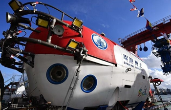 China's manned submersible deepsea warrior completes deep sea testing
