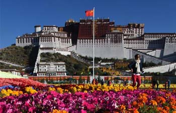 Autumn view of Potala Palace in heart of Lhasa