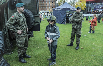 People visit NATO's training center in Poland on open day