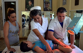 Specialists treat children in Int'l Center of Cuba