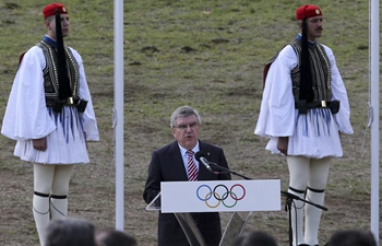 Flame lighting ceremony for PyeongChang Winter Olympics held in Greece