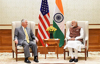 U.S. Secretary of State arrives in India on 3-day visit
