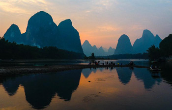 Scenery of Lijiang River in S China's Guilin
