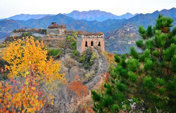 Autumn scenery of Yumuling Great Wall in north China