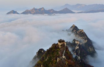 Cloud scenery of Jiankou Great Wall in Beijing