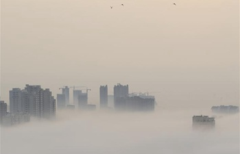 E China's Xuyi cloaked by fog