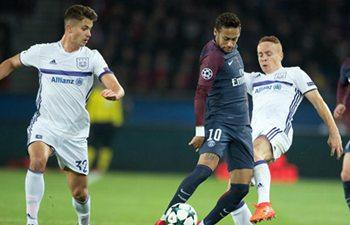 Paris Saint-Germain beats Anderlecht 5-0 in UEFA Champions League