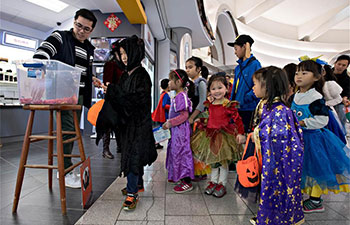 Candies distributed to kids during Halloween celebrations in Richmond, Canada