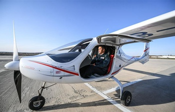 Advanced version of China's 1st electric plane makes maiden flight