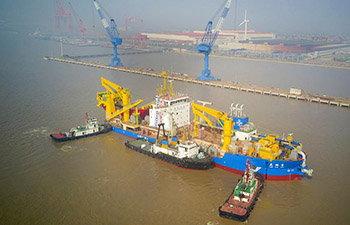 Asia's largest dredging vessel begins water tests