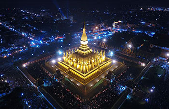 That Luang Festival marked in Vientiane, Laos