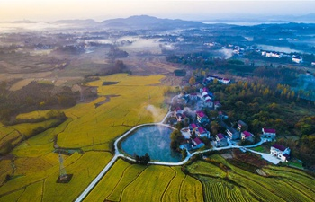 Aerial view of Shucheng County in E China's Anhui