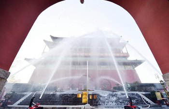 Fire drill held in Dongcheng District of Beijing