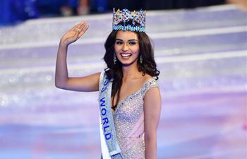 India's Manushi Chhillar crowned Miss World 2017 in Sanya