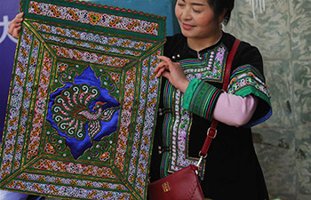 Traditional embroidered handicraft competition held in N China