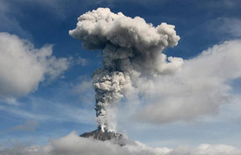 Indonesia Mount Sinabung erupts