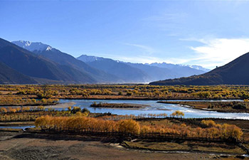 Early winter scenery of Nyingchi, China's Tibet