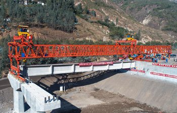 Cipingzi bridge construction underway in SW China