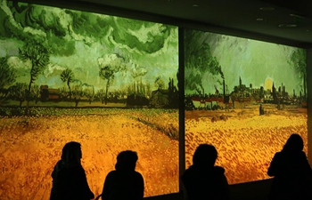 "Multimedia exhibition ""Van Gogh Alive"" held in Athens"