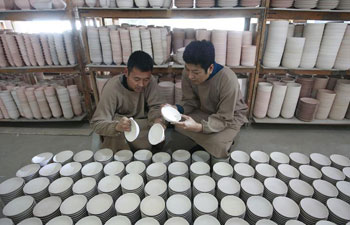 Workshop of Ru porcelain manufacturer in China's Henan