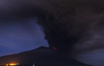 Mount Agung volcano spews volcanic ash in Indonesia