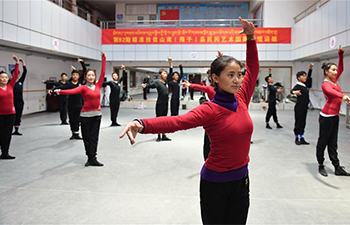 Members of folk art troupe take free professional training in Tibet