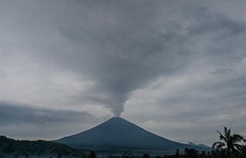 Mount Agung spews volcanic ash in Bali