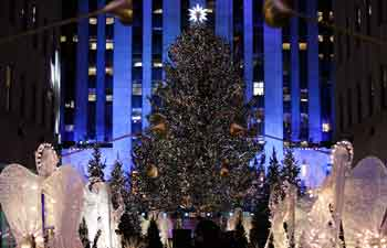 Christmas Tree Lighting Ceremony held in Rockefeller Center in New York