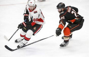 NHL hockey game: Ottawa Senators vs. Anaheim Ducks