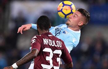 Serie A: Torino beat Lazio 3-1