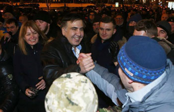 Ukraine releases arrested Georgian ex-president