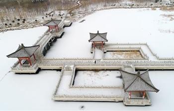 Snowfall blankets Yinchuan, NW China's Ningxia