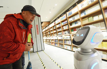 Robots serve as shopping assistants in China's bookstore