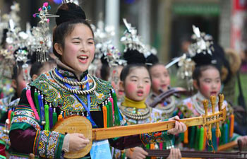 People of Dong ethnic group celebrate Dongnian festival in SW China