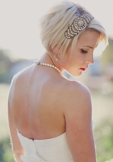 新娘短发发型-短发新娘 清爽的美丽