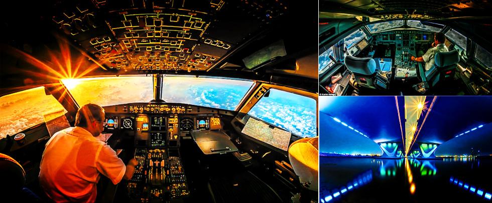 令人瞠目!飛行員萬米高空拍機艙內景(組圖)