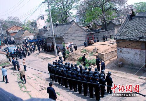 河南郏县:多警种强拆民宅
