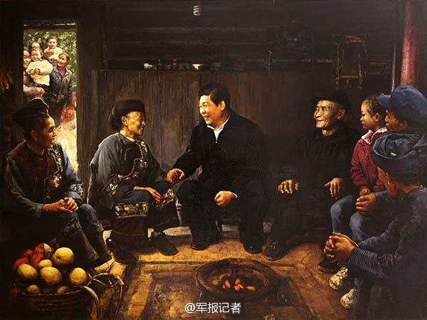 【高清】油画中的习大大 一脚抽射帮中国足球走向世界 资讯 第5张