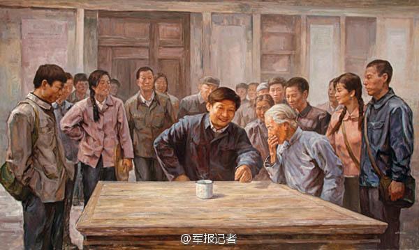 【高清】油画中的习大大 一脚抽射帮中国足球走向世界 资讯 第6张