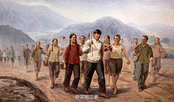 【高清】油画中的习大大 一脚抽射帮中国足球走向世界 资讯 第7张