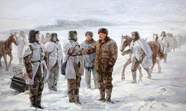 【高清】油画中的习大大 一脚抽射帮中国足球走向世界 资讯 第8张