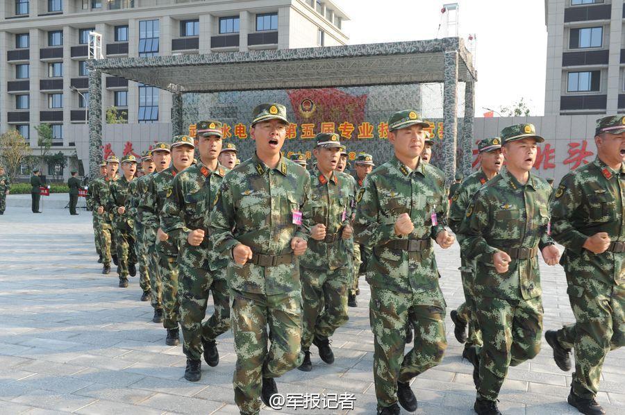至15日,全国武警水电部队第五届专业技能竞赛在江苏常州武警水电图片