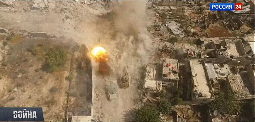 俄罗斯重装出击叙利亚 战场硝烟弥漫