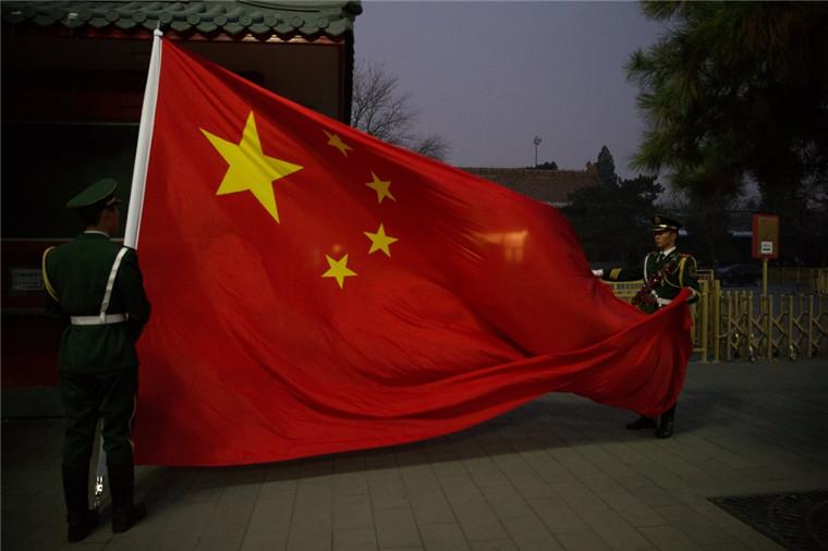 组图:天安门国旗护卫队老兵退伍
