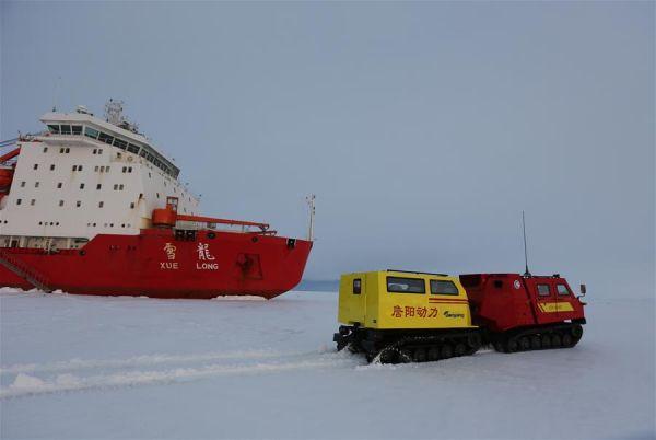 产极地水陆两用全地形车亮相南极 高清图图片