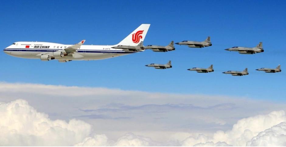 盘点护航中国领导人专机的外军战机图片