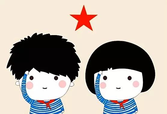 红领巾喜迎十九大画信-海魂衫 红领巾,这个搭配最流行