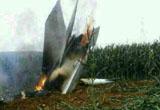 我一架軍用飛機在大連瓦房店復州城墜毀